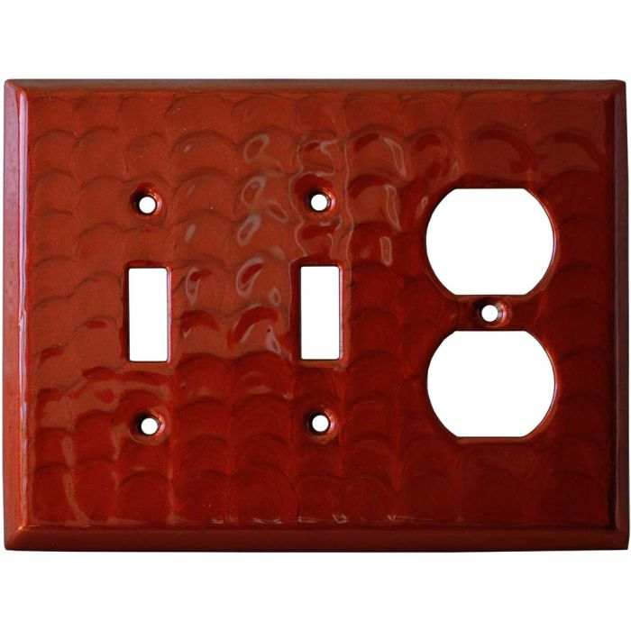 Red Motion Double 2 Toggle / Outlet Combination Wall Plates