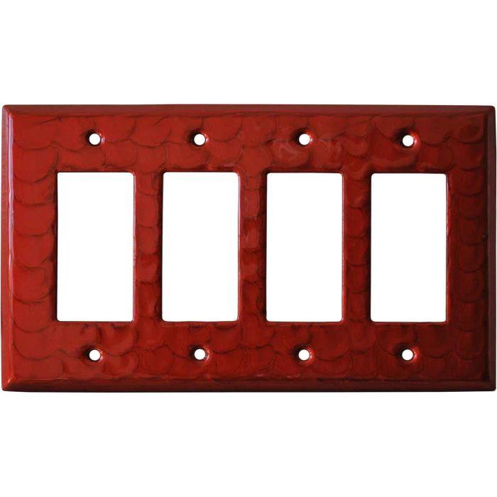 Red Motion - 4 Rocker GFCI Decora Switch Plates