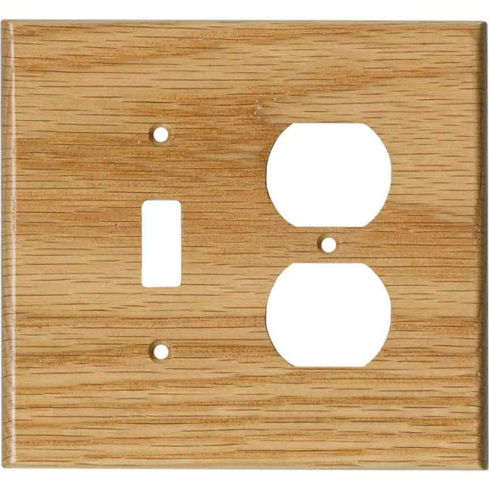 Red Oak Satin Lacquer Combination 1 Toggle / Outlet Cover Plates