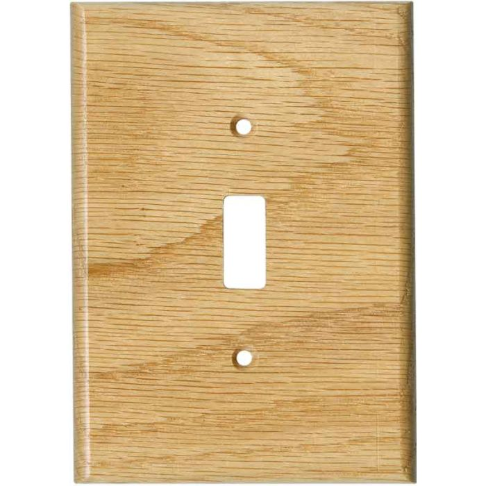 Red Oak Satin Lacquer Single 1 Toggle Light Switch Plates