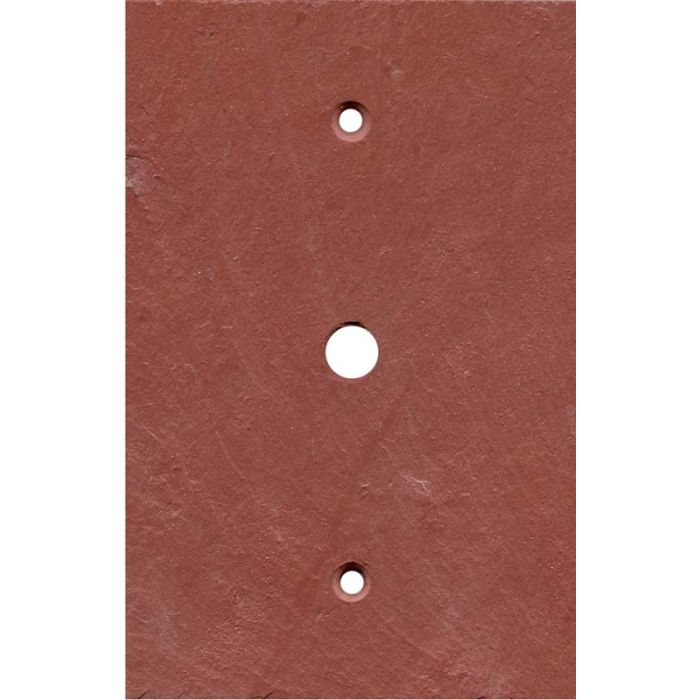 Vermont Red Slate Coax Cable TV Wall Plates