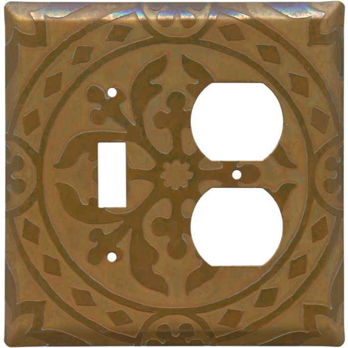 Romanesque Combination 1 Toggle / Outlet Cover Plates