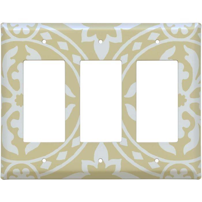 Romanesque Latte Triple 3 Rocker GFCI Decora Light Switch Covers