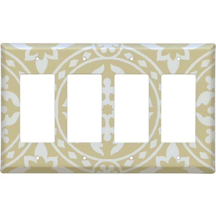Romanesque Latte 4 Rocker GFCI Decorator Switch Plates