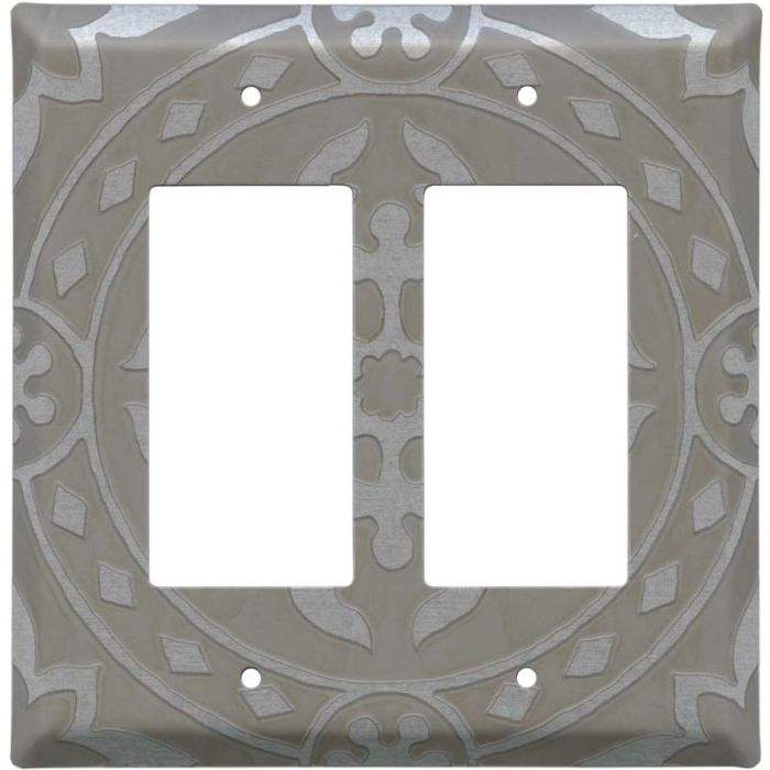Romanesque Loft 2 Gang Double GFCI Rocker Decorator Wallplates