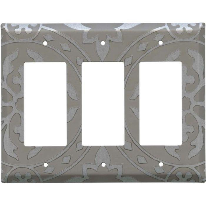 Romanesque Loft Triple 3 Rocker GFCI Decora Light Switch Covers