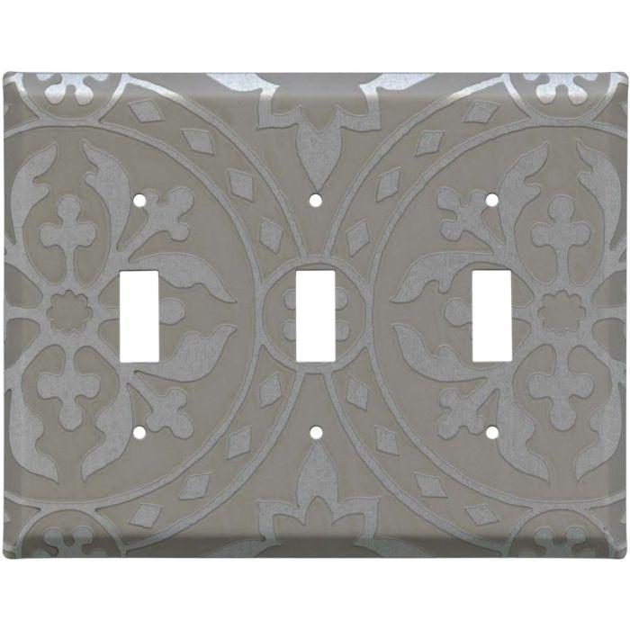 Romanesque Loft Triple 3 Toggle Light Switch Covers