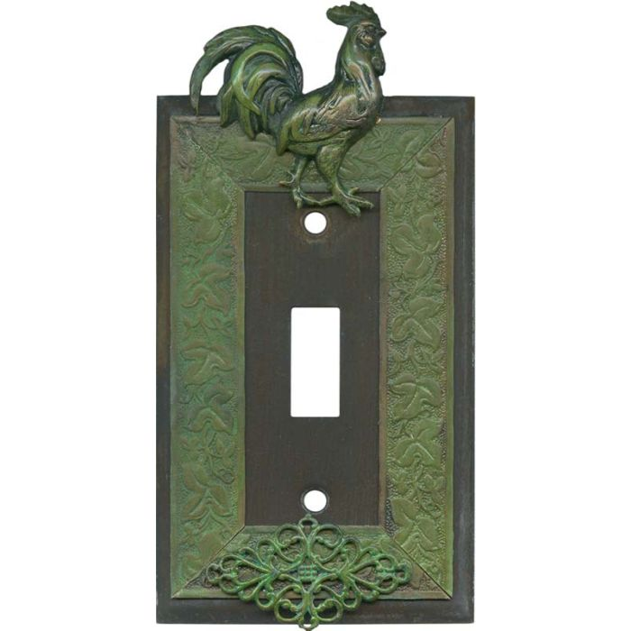 Rooster Single 1 Toggle Light Switch Plates
