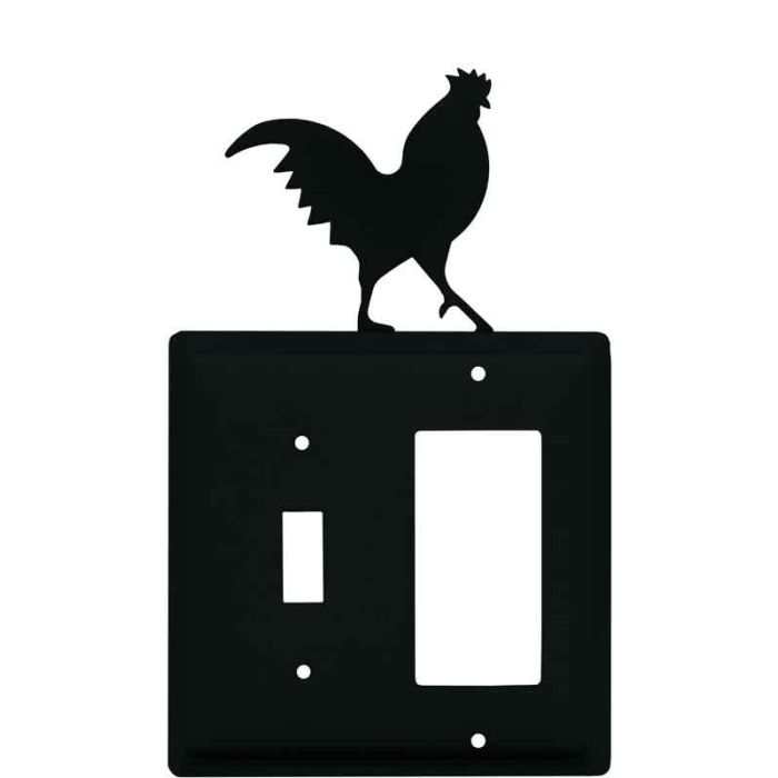 Rooster Black Combination 1 Toggle / Rocker GFCI Switch Covers