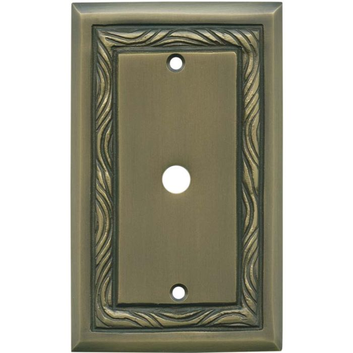 Rope Accent Antique Brass - Cable Wall Plates