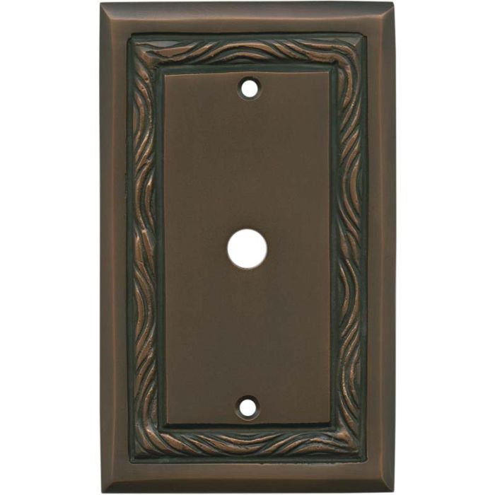 Rope Accent Antique Copper Coax Cable TV Wall Plates