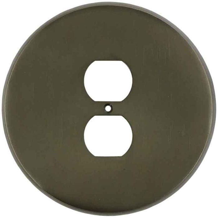 Round Oil Rubbed Bronze 1 Gang Duplex Outlet Cover Wall Plate
