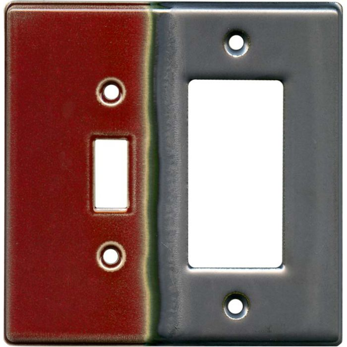 Ruby 1 Toggle Wall Switch Plate - GFI Rocker Cover Combo