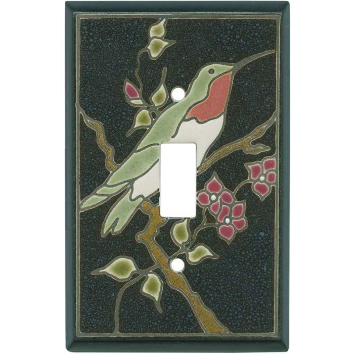 Ruby Hummingbird Ceramic Single 1 Toggle Light Switch Plates