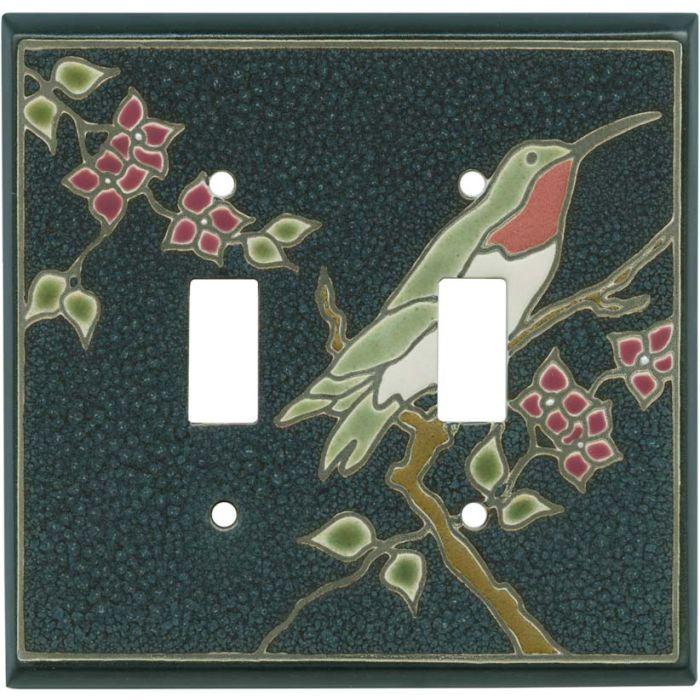 Ruby Hummingbird Ceramic2 Toggle Switch Plates