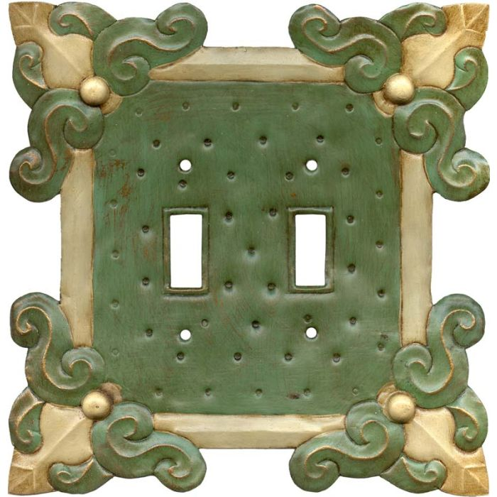 Russia Green2 Toggle Switch Plates