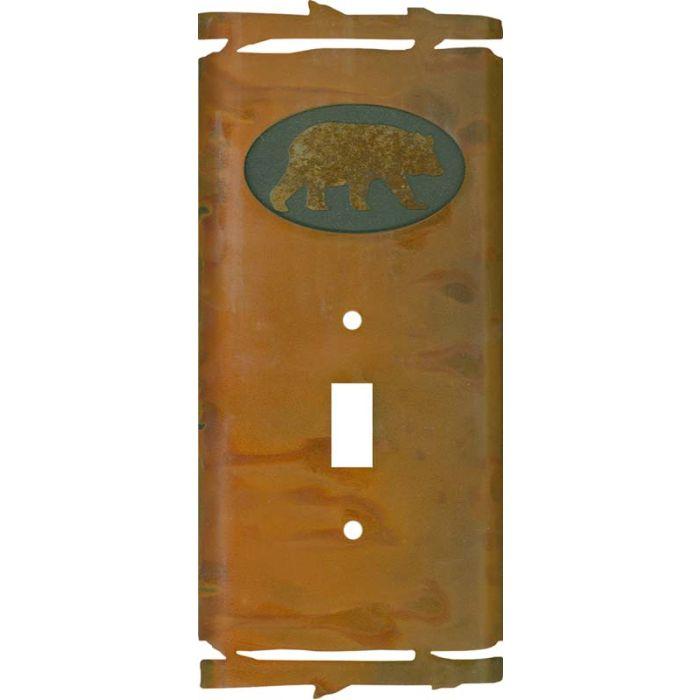 Rustic Bear Single 1 Toggle Light Switch Plates