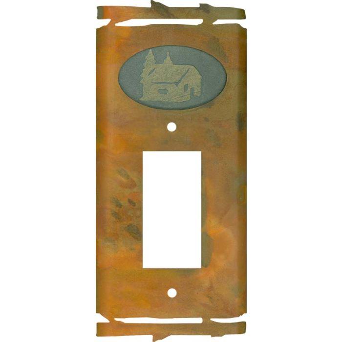 Rustic Cabin Single 1 Gang GFCI Rocker Decora Switch Plate Cover