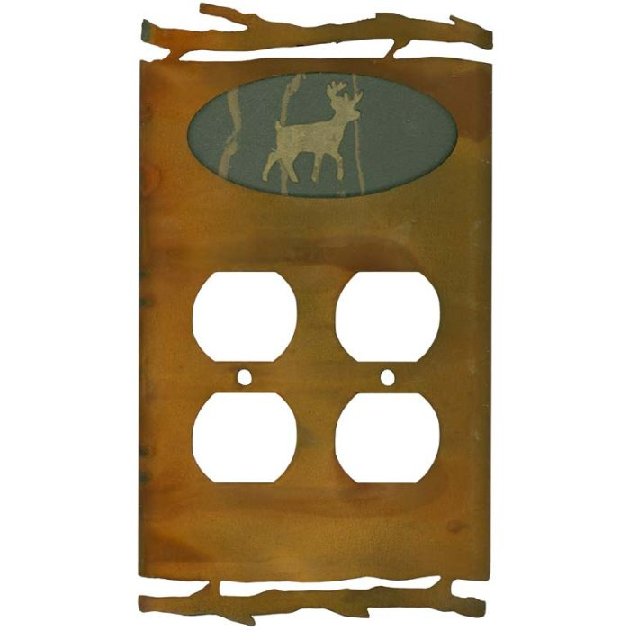 Rustic Deer Wall Plates Outlet Covers