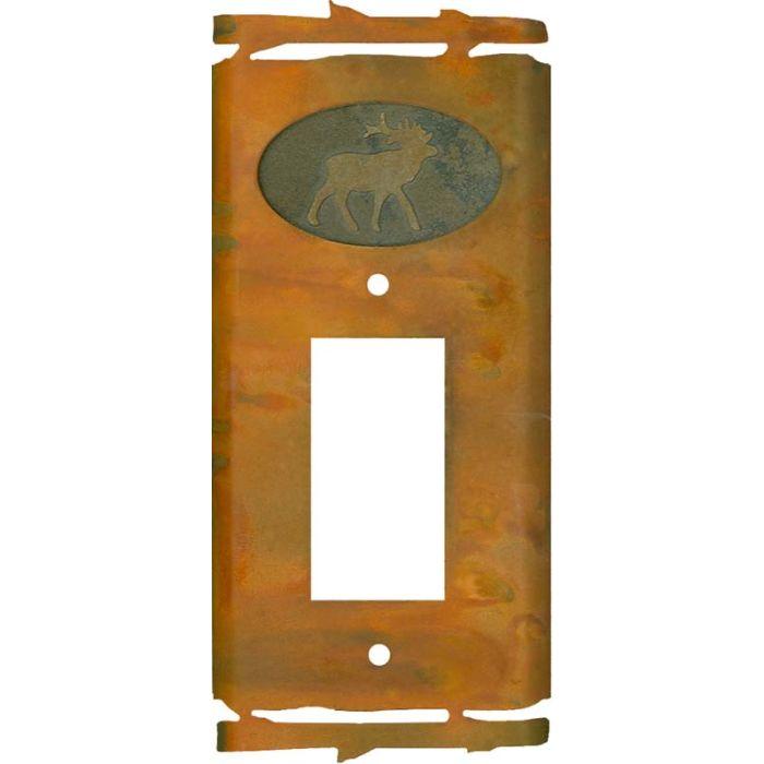 Rustic Elk Single 1 Gang GFCI Rocker Decora Switch Plate Cover