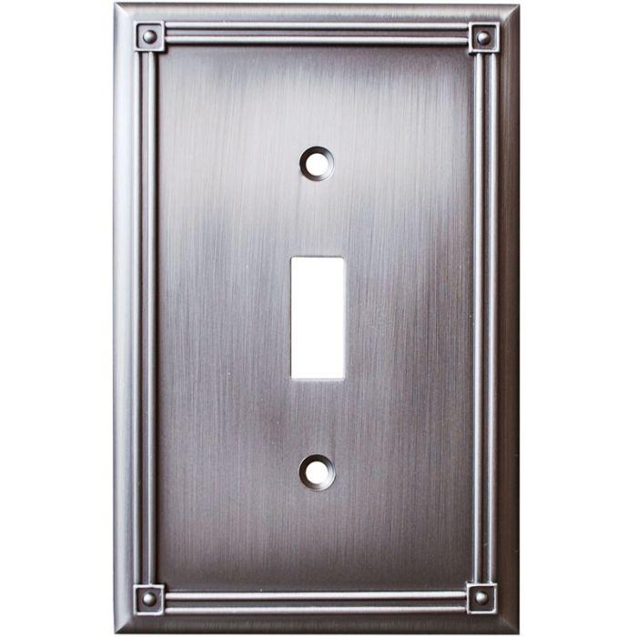 Ruston Heirloom Silver Single 1 Toggle Light Switch Plates