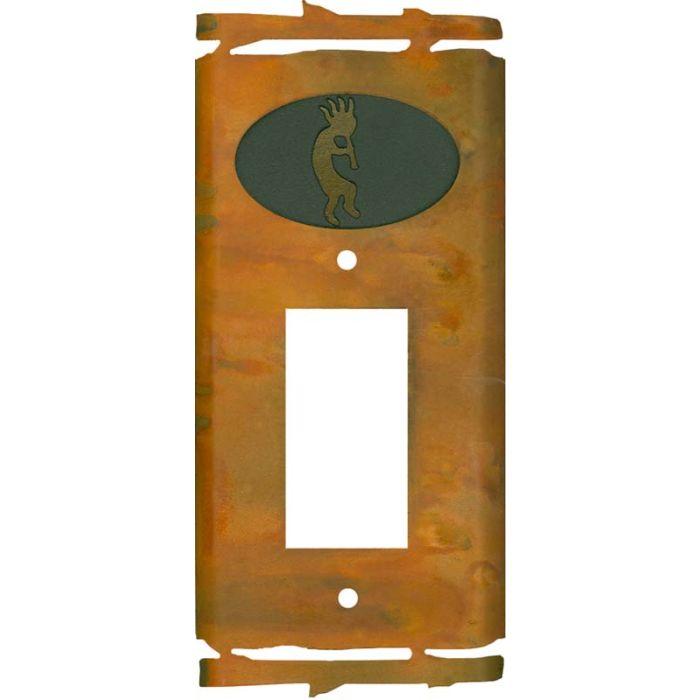 Rustic Kokopelli Single 1 Gang GFCI Rocker Decora Switch Plate Cover
