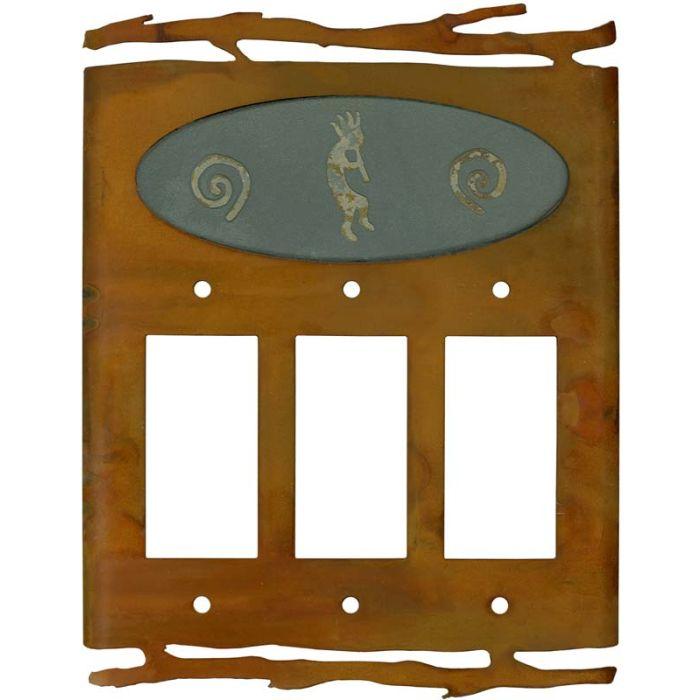 Rustic Kokopelli3 - Rocker / GFCI Decora Switch Plate Cover