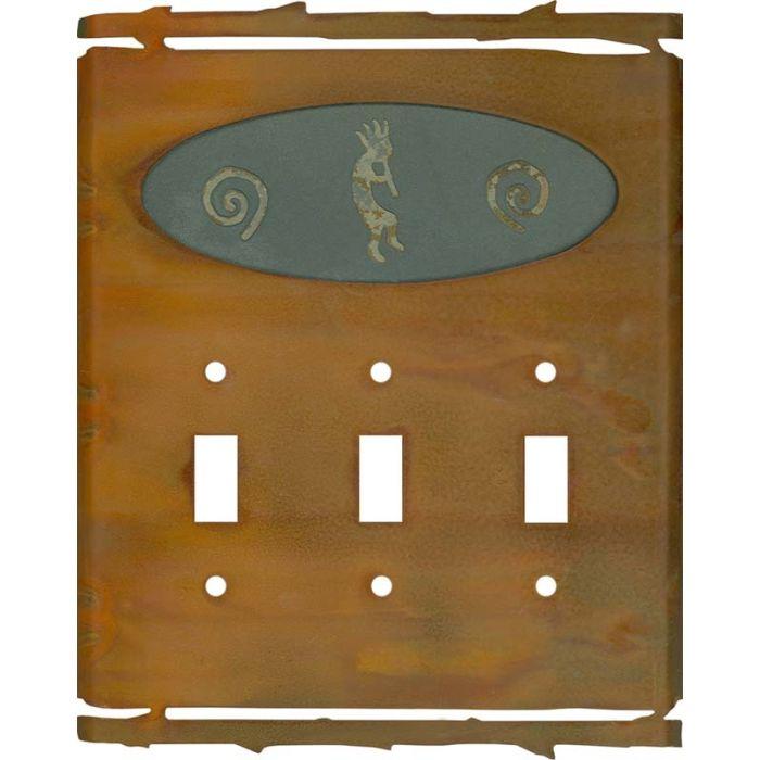 Rustic Kokopelli3 - Toggle Switch Plates