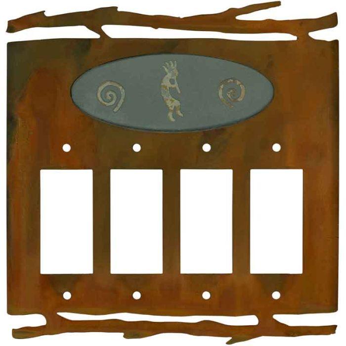 Rustic Kokopelli4 Rocker GFCI Decorator Switch Plates