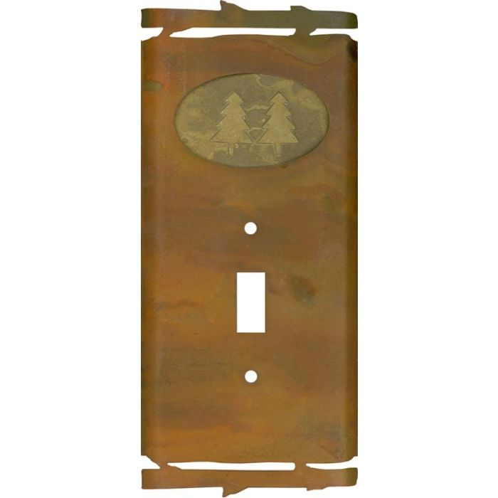 Rustic Pine Tree1 Toggle Light Switch Cover