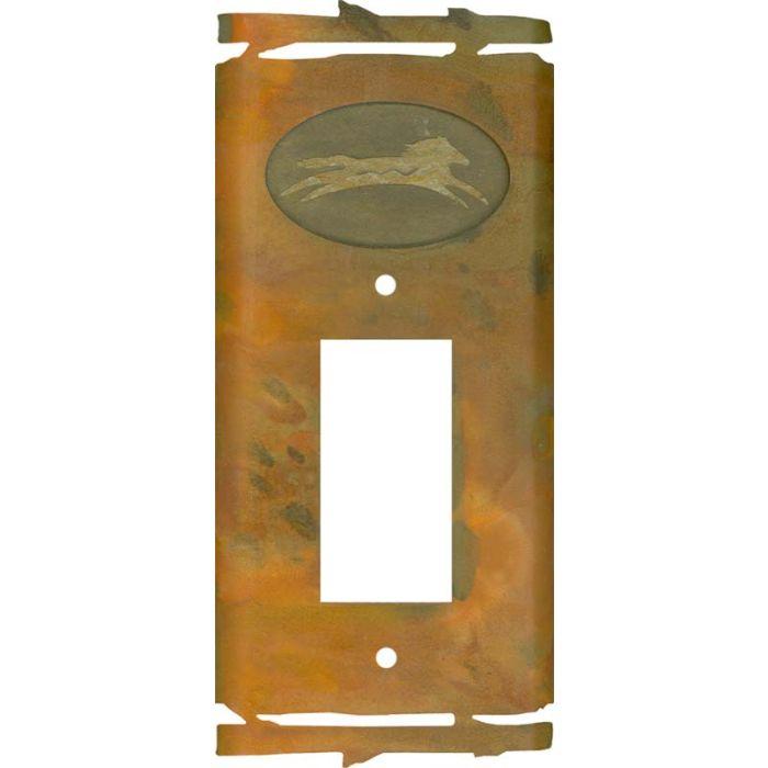 Rustic Spirit Horse Single 1 Gang GFCI Rocker Decora Switch Plate Cover