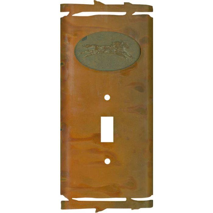 Rustic Spirit Horse Single 1 Toggle Light Switch Plates