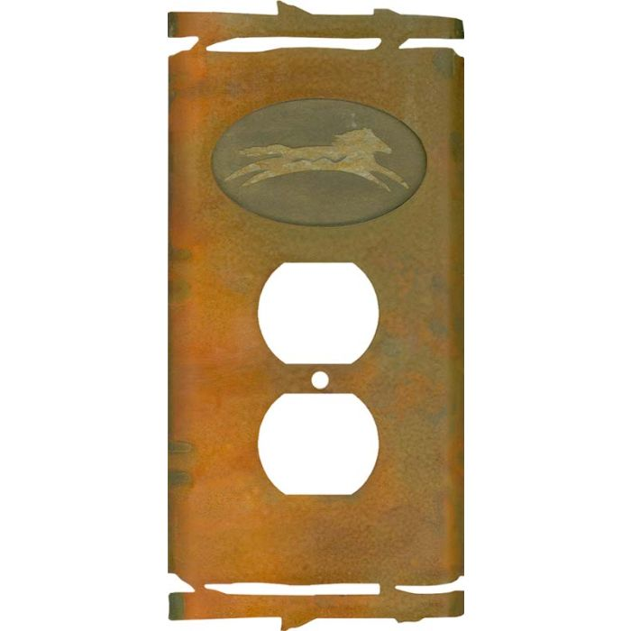 Rustic Spirit Horse 1 Gang Duplex Outlet Cover Wall Plate