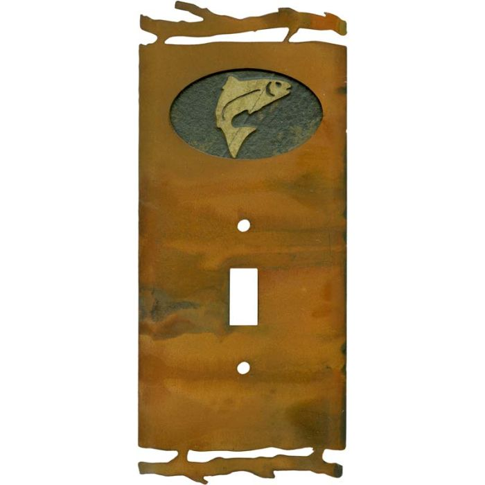 Rustic Trout1 Toggle Light Switch Cover