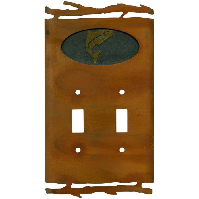 Rustic Trout2 Toggle Switch Plates
