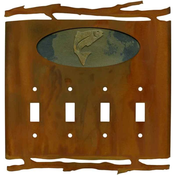 Rustic Trout4 - Toggle Light Switch Covers & Wall Plates