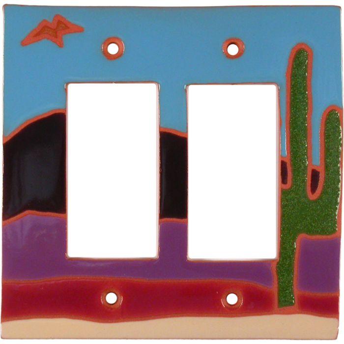 Saguaro Bird 2 Gang Double GFCI Rocker Decorator Wallplates