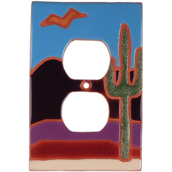 Saguaro Bird 1 Gang Duplex Outlet Cover Wall Plate