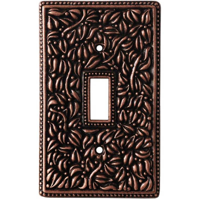 San Michele Antique Copper Single 1 Toggle Light Switch Plates