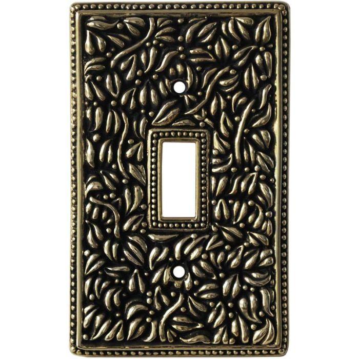San Michele Antique Gold Single 1 Toggle Light Switch Plates