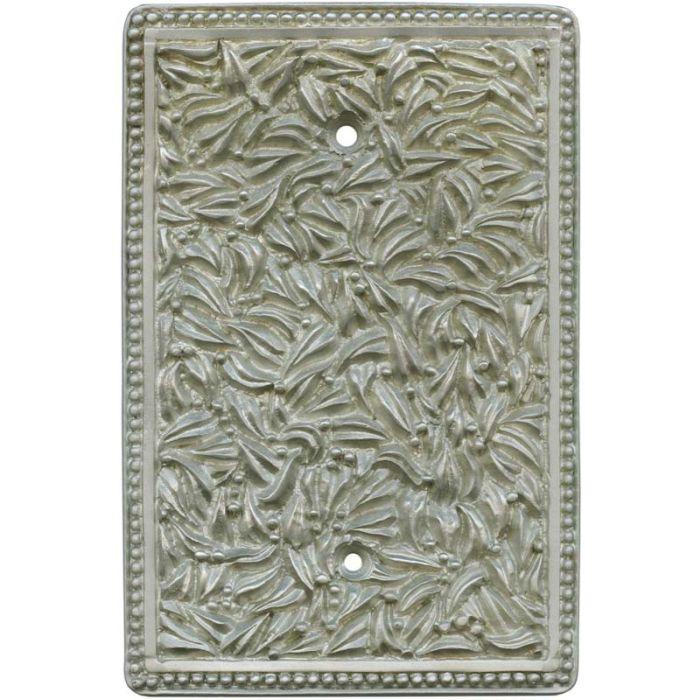 San Michele Jumbo Satin Nickel1 Gang Blank Wall Plates