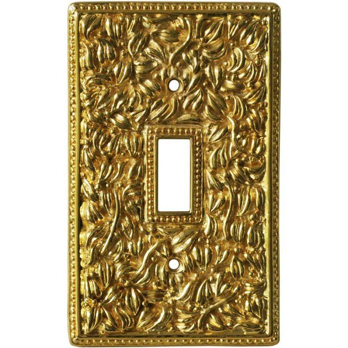 San Michele Polished Gold Single 1 Toggle Light Switch Plates