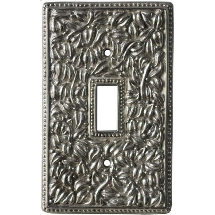San Michele Polished Silver Single 1 Toggle Light Switch Plates