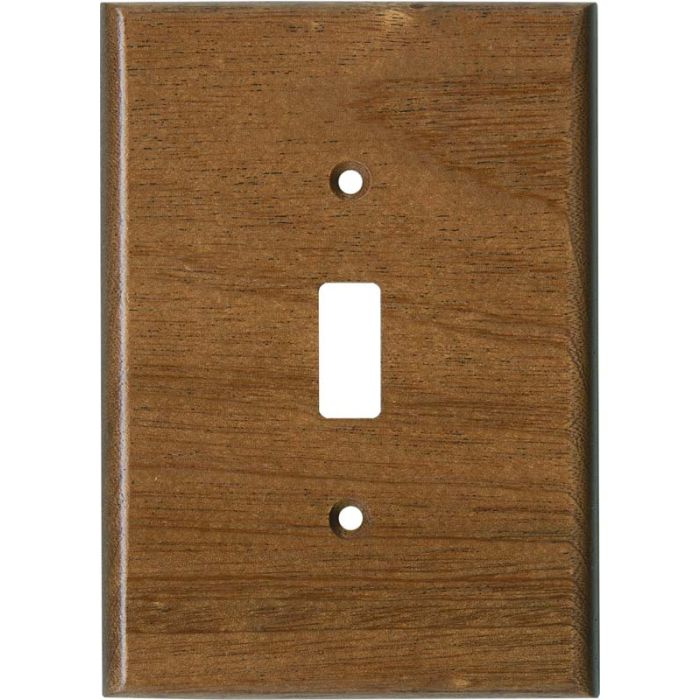Sapele African Mahogany Satin Lacquer Single 1 Toggle Light Switch Plates
