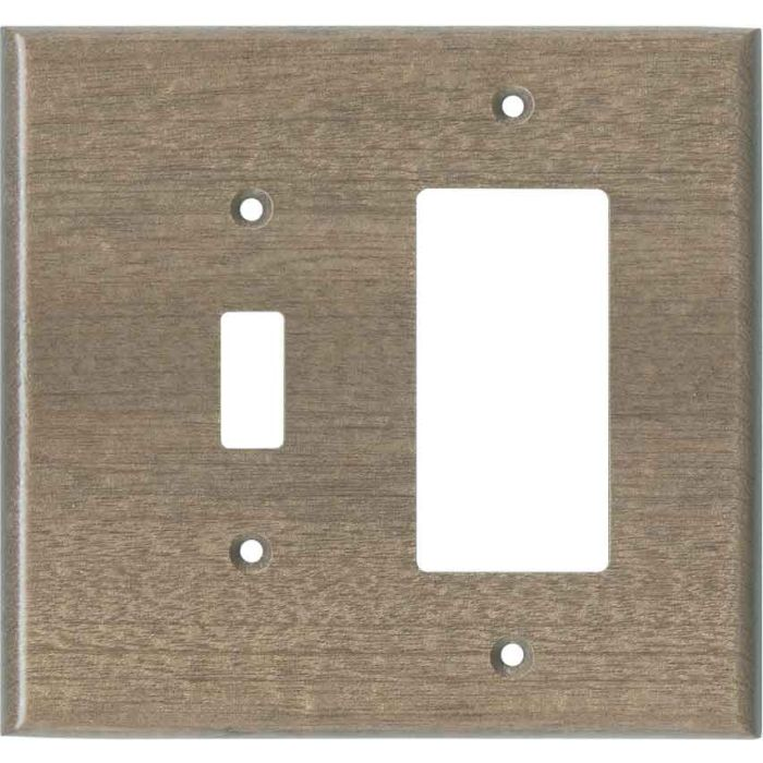 Sapele African Mahogany Unfinished Combination 1 Toggle / Rocker GFCI Switch Covers