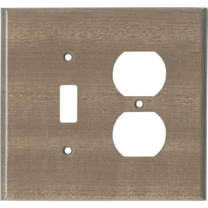 Sapele African Mahogany Unfinished Combination 1 Toggle / Outlet Cover Plates