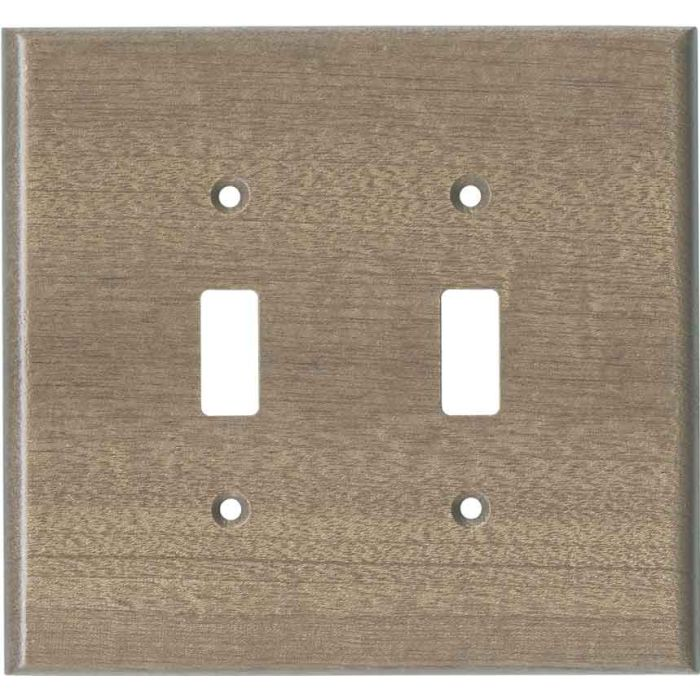 Sapele African Mahogany Unfinished Double 2 Toggle Switch Plate Covers