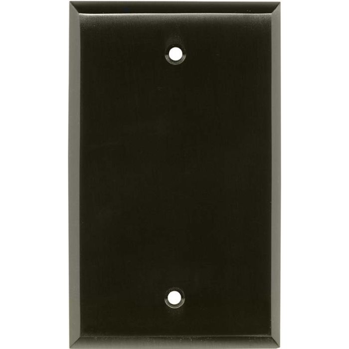 Satin Black Nickel Blank Wall Plate Cover