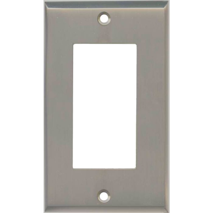 Satin Nickel - GFCI Rocker Switch Plate Covers