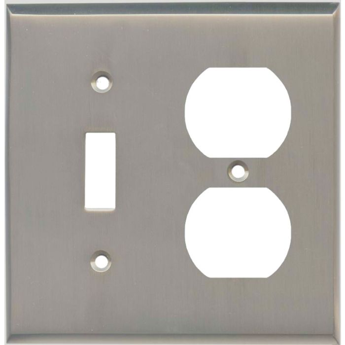 Satin Nickel - Combination 1 Toggle/Outlet Cover Plates